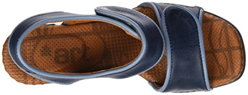 ART Damen 0558 Memphis Cannes Sandalen mit Knöchelriemen Blau (Blue)