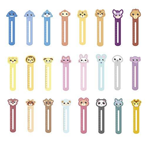 Particolari animali divertenti segnalibri per bambini ragazzi ragazze, confezione da 30