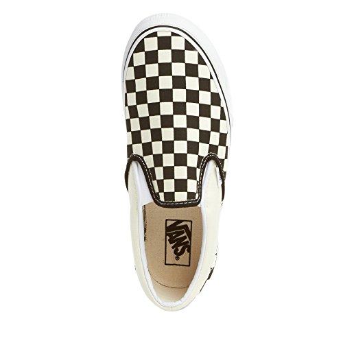 and checker VEYEBWW Unisex Erwachsene black Slipper WHTCHCKERBO U ON white BLK Vans SLIP white CLASSIC Schwarz 1ax647