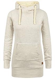 BLEND SHE Jenny Pile Damen Kapuzenpullover Hoodie Sweatshirt mit Fleece-Innenseite aus hochwertiger Baumwollmischung, Größe:L, Farbe:Sand Mix (70810)