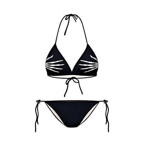 Haodasi Sexy Frauen Grüner Laub Bikini Print Digital Badeanzug (Tiger Print Bikini)