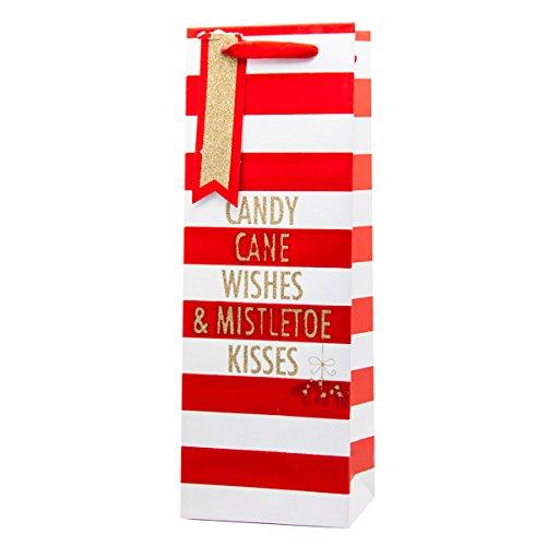 Neue Weihnachten Geschenk Taschen–Weihnachten Wein Flasche Bags UK Candy Kisses Christmas