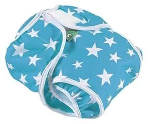 Tots Bots : Wrap PUL 2 Aqua Star 18-40lbs