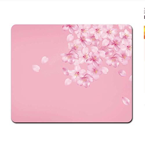 Mousepad Gaming Maus Pad Mauspad Mouse Groß Blütenblatt Mauspad Einfache wasserdichte Lock Edge Computer Pink Line 220X180Mm -