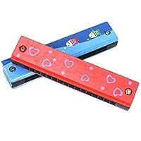 CrazyCrafts Wooden Harmonica Colorful Kids Musical Instruments Toys Children Cartoon Pattern Wood Mouth Organ Random…