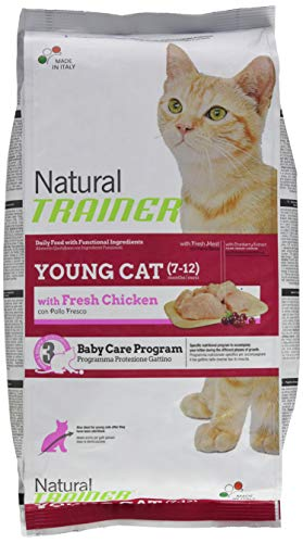 Natural Trainer Trainer Natural con Pollo Fresco Young Cat 1,5kg-Mangimi secchi per Gatti, Multicolore, Unica