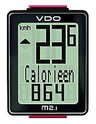 VDO M2.1 WR digitaler Fahrradcomputer Tacho Kabel , Mehrfarbig (schwarz/Weiß/Rot) , Einheitsgröße