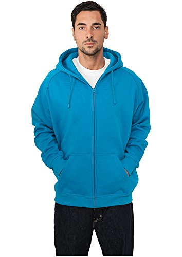 Urban Classics Relaxed Zip Hoody Ruby Turquoise