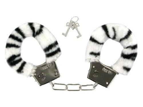 Preisvergleich Produktbild Handschellen, abgedeckt mit weichem plüsch zebra