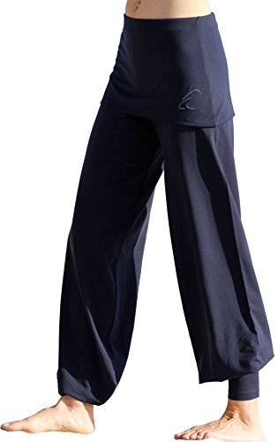 ESPARTO pantalon yoga Sooraj en coton biologique bleu nuit