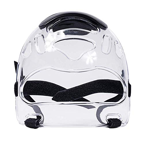 Xiegons0 Deporte Transparente Cara Escudo, Ajustable Cabeza Equipo Protector Desmontable Transparente...