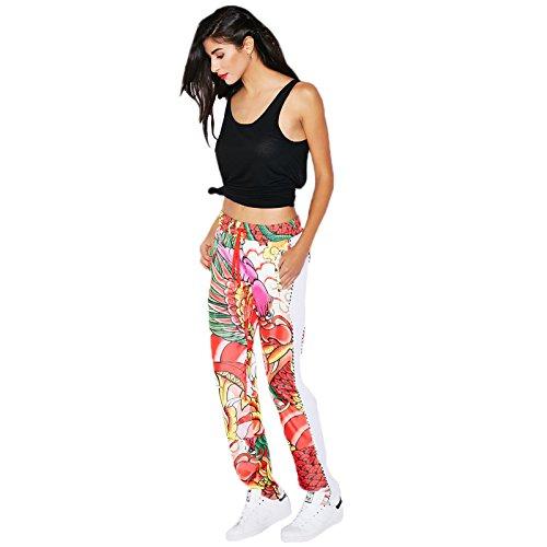 Adidas by Rita Ora Dragon Print Tp Pants Women S23580 WHITE / MULTICOLOR