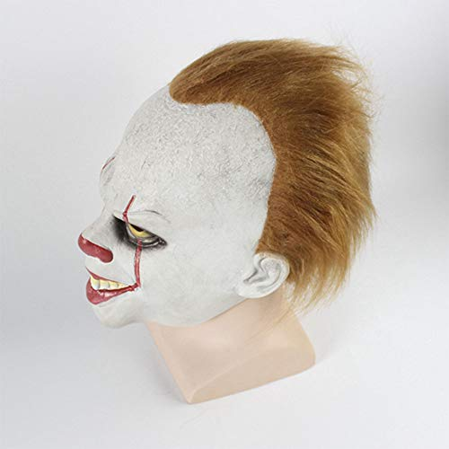 Zhanghaidong Kostüm Clown Maske Zurück Seele Cosplay Halloween Scary Latex Realistische Prop Party Gesichtsmaske