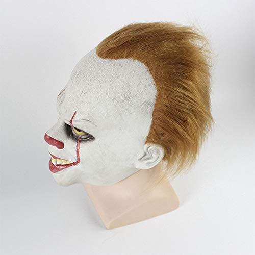 Clown Maske Zurück Seele Cosplay Halloween Scary Latex Realistische Prop Party Gesichtsmaske ()