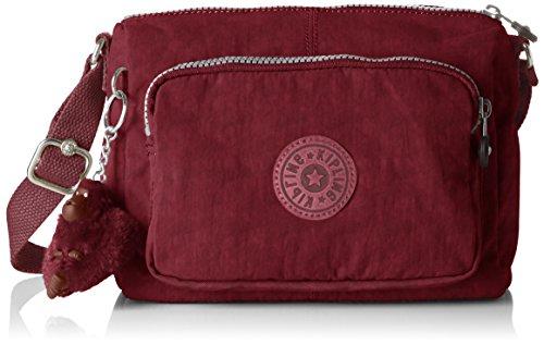 Kipling Reth S, Bolso Bandolera Para Mujer, Rojo (Crimson), 13.5x23x15.5 cm (B x H x T)