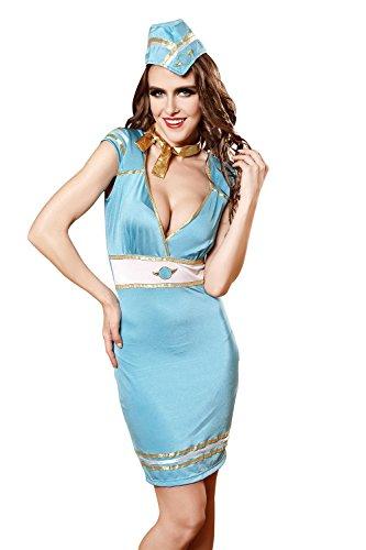 FLH Sailor Kleidung Uniformen Halloween Versuchung Set Cosplay Kostüme Spiel Uniformen Erogenous ( Farbe : Blau , größe : M )