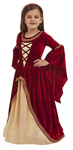 Big Girls' Alessandra The Crimson Princess Costume Small (5-6) by Princess Paradise