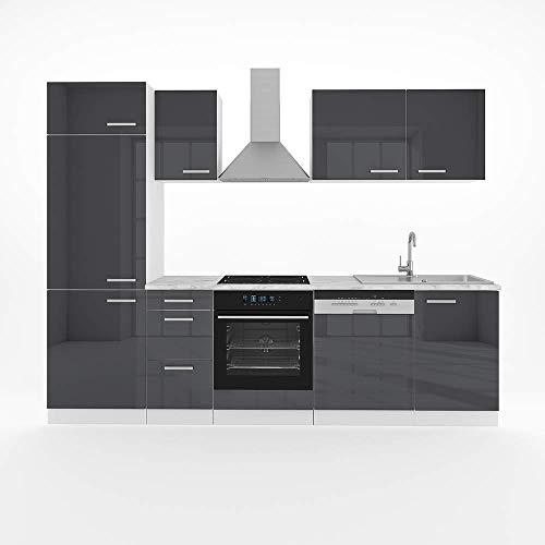 Vicco Küche Optima 270 cm Küchenzeile Küchenblock Einbauküche Komplettküche - Frei Kombinierbar