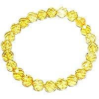 Bracelet - Citrine Hydro Diamond Bracelet Cut 8 MM + 1 Point Pendant Birthstone Handmade Healing Power Crystal... preisvergleich bei billige-tabletten.eu