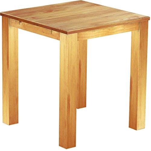 Brasil Meubles Haute Table 'Rio Classico' 120 x 120 cm en pin Massif Couleur Miel