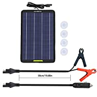 ECO-WORTHY 12 Volts 10 Portable Power Solar Panel Battery Charger