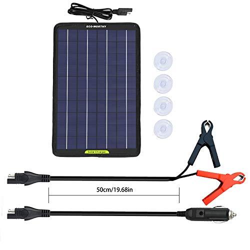 ECO-WORTHY 12 V 10 Watt tragbares Solarpanel