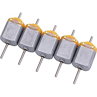 Yeeco 5PCS 130 DC Motor Mini Electric Motor, DC1.5-12V 5400RPM Carbon Brush High Speed Torque Electric Toy Cars Engine Motor Kit, Electric Machinery Motor with Long Shaft for DIY Fan Toys Cars Models