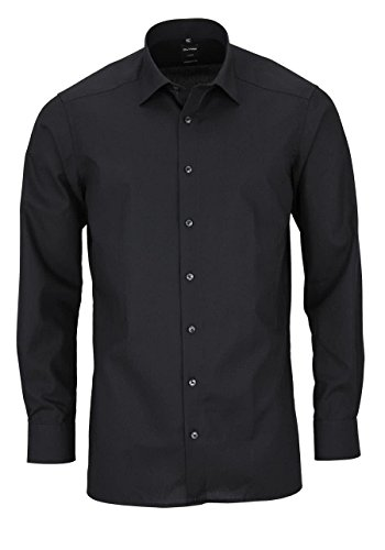 Olymp Hemd Luxor Modern Fit Italian Kent - schwarz 99 schwarz