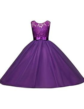 Niñas Vestidos de Princesa Fiesta sin Mangas Vestido Para Fiesta Del Boda