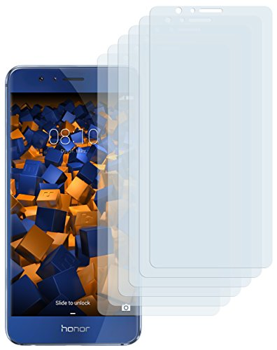 mumbi Schutzfolie kompatibel mit Huawei Honor 8 Folie klar, Bildschirmschutzfolie (6x)