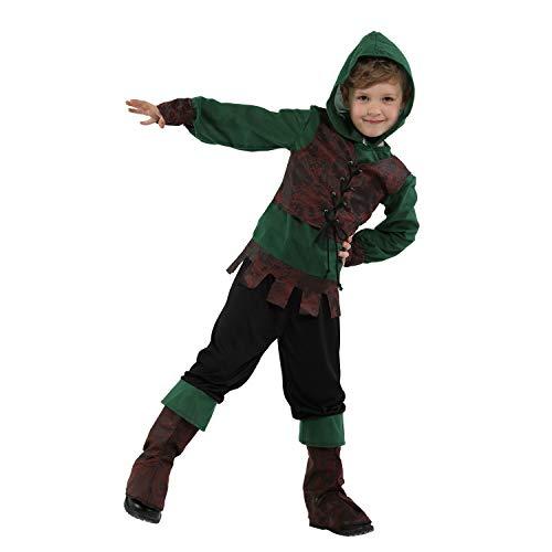 Cosplay Kostüm Kinder Performance Kleidung Indischer Prinz Jäger Anzug Kinder Halloween Kostüm Mädchen Jungen Halloween Cosplay Kleid Kostüm 4-12 Jahre Kapuzenmantel, Spandex, - Jäger Kostüm Mädchen