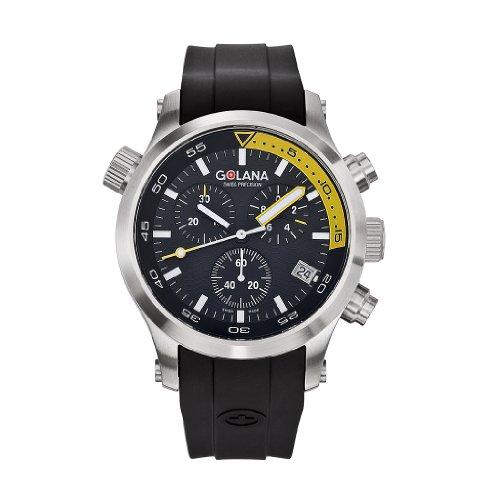 Golana Aqua Pro Swiss Made Divers AQ300-4 - Cronografo da uomo