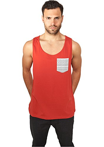 Contrast Pocket Jersey Big Tank red/wht/aztec S