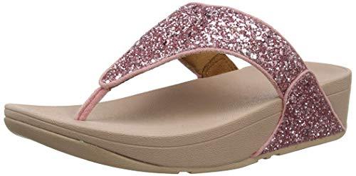 Fitflop Lulu Glitter Toe-Thongs, Sandali a Punta Aperta Donna, Rosa (Rose 729), 39 EU