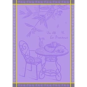 Torchon Jacquard Coton SAVON DE MARSEILLE 50x70cm Parme jojo la cigale