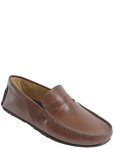 Chaussure De Conduite Hommes Cuir Mocassin Marron