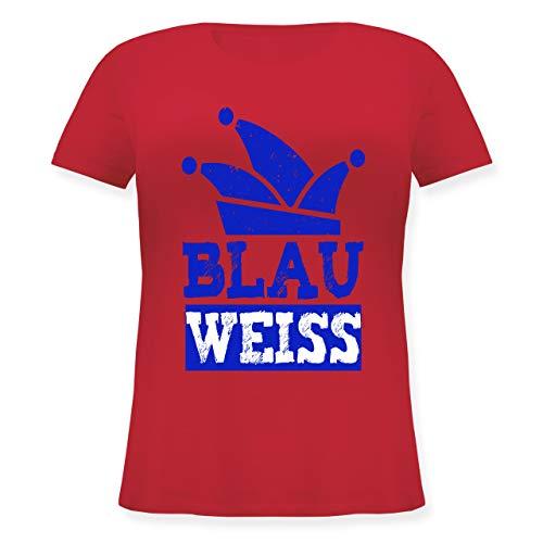 Karneval & Fasching - Blau Weiss Köln - S (44) - Rot - JHK601 - Lockeres Damen-Shirt in großen Größen mit ()