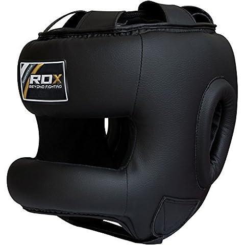 RDX Boxe MMA Caschetto Pugilato Casco Kick Boxing Protezione Muay (Capo Supremo)