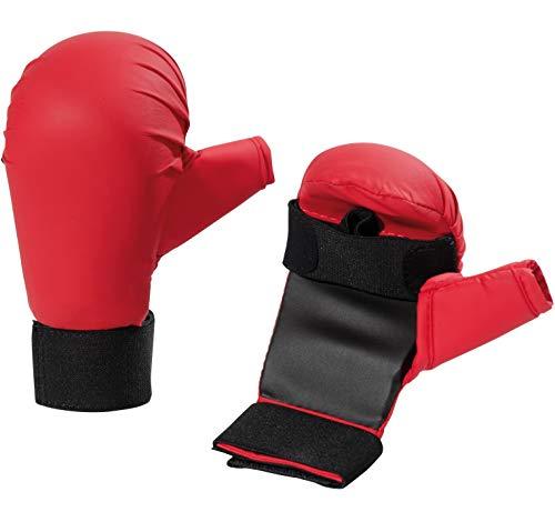 BAY® Stock Handschuhe für Waffenkampf - ROT - (L) Large Senior Erwachsene Waffen Holzwaffen BO Stab Langstock Stock Vollkontakt Kampfsport Waffen Budo