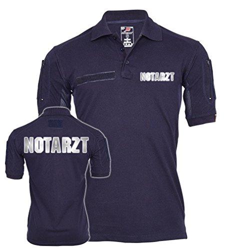 Copytec Tactical Polo Notarzt Reflektierend Dr Arzt Krankenhaus Rettungsdienst Sanitäter Hemd Bekleidung Krankenwagen #23443, Größe:L, Farbe:Dunkelblau (Einheitliche Größentabelle)