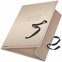 Leitz 6585 - Carpeta de cartón (A2, con cinta de cierre), color gris