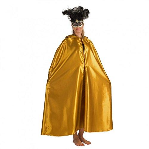 Unisex Umhang Venezia gold Kapuzen-Umhang Fasching Maskenball Barock Venedig