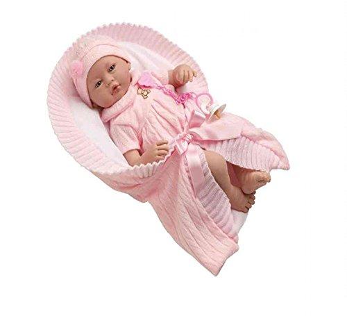 Munecas Guca 517Vera Baby Doll en Disfraz y Rosa Mango, 46cm