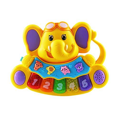 Lispeed Juguete para bebé, Piano, Teclado, Instrumento Musical para niños pequeños, Teclado de Animales, Aprendizaje y Desarrollo, Juguete de 6 a 18 Meses con luz/Juego de música para niñas y niños