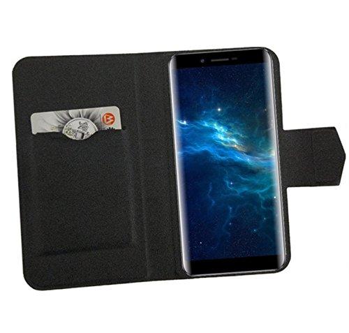 PREVOA Coque pour Wieppo S6 / S6 Lite - Flip PU Housse Coque Case pour Wieppo S6 / S6 Lite Smartphone - Noir -