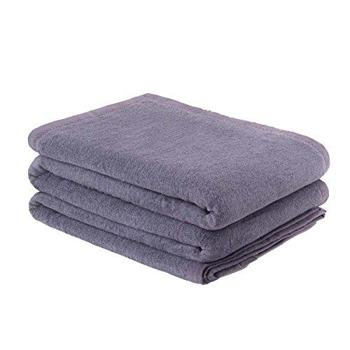 Etérea Premium Flauschige Baumwolle Schlafdecke, Kuscheldecke - 150x200 cm Graphit Uni