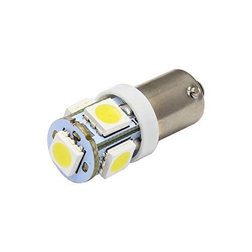 Preisvergleich Produktbild ZGMA BA9S Auto Leuchtbirnen SMD 5050 65lm Blinkleuchte For Universal White