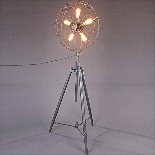 BIUODY Antico lettura Lampada da terra in metallo Fan Piano Luce 220V H 185 cm x W 65 cm