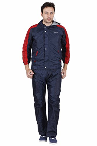 Versalis Men's Polyester Raincoat - Silver Joy Suit (Blue, Large)