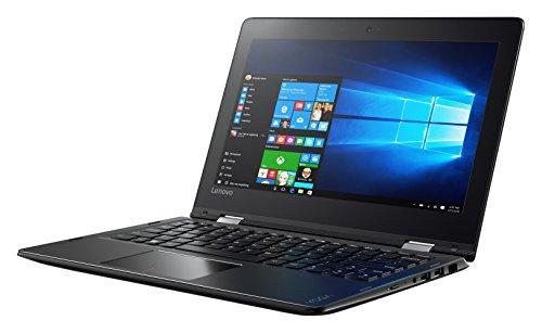Lenovo Yoga 310 29,5 cm (11,6 Zoll HD IPS Touch) narrow Convertible Notebook (N3350 Dual-Core, 2 GB RAM, 32 GB eMMC, Intel HD Grafik 500, Windows 10 Home) schwarz DE